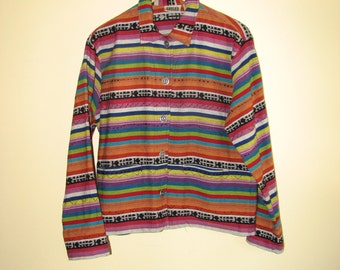 "CHICO""S  Women's Jacket - Colorful Stripy Jacket"