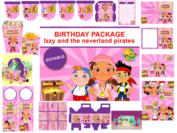 INSTANT DOWNLOAD Izzy and the neverland by SabrinasPrintable