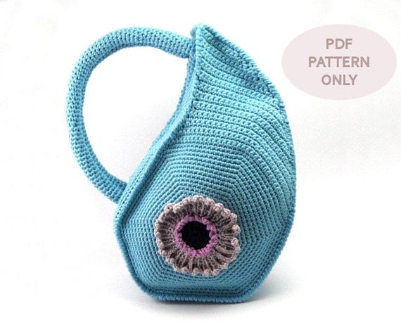 PDF Crochet PATTERN - Crochet Bag Pattern with Round Handles Unique ...