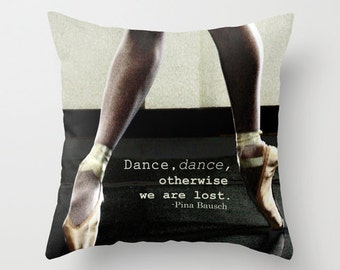 Pointe Pillow Cover, Ballet Photography, Home Decor, Photo Pillow, Throw Pillow, Fine Art Photography, 16x16, 18x18, 20x20