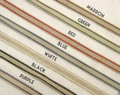 20m (22 yards) x 10mm(0.39 inches) roll stripe 100% Linen Ribbon-Sewing Tape-Embellishment-Scrapbooking(154)