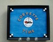 Corvette Key Hanger With Clock