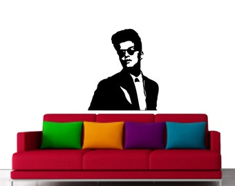 bruno mars vinyl art for wall decal wall art and design. Black Bedroom Furniture Sets. Home Design Ideas