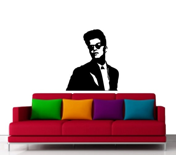 bruno mars vinyl art for wall decal wall art and by vinylspace. Black Bedroom Furniture Sets. Home Design Ideas