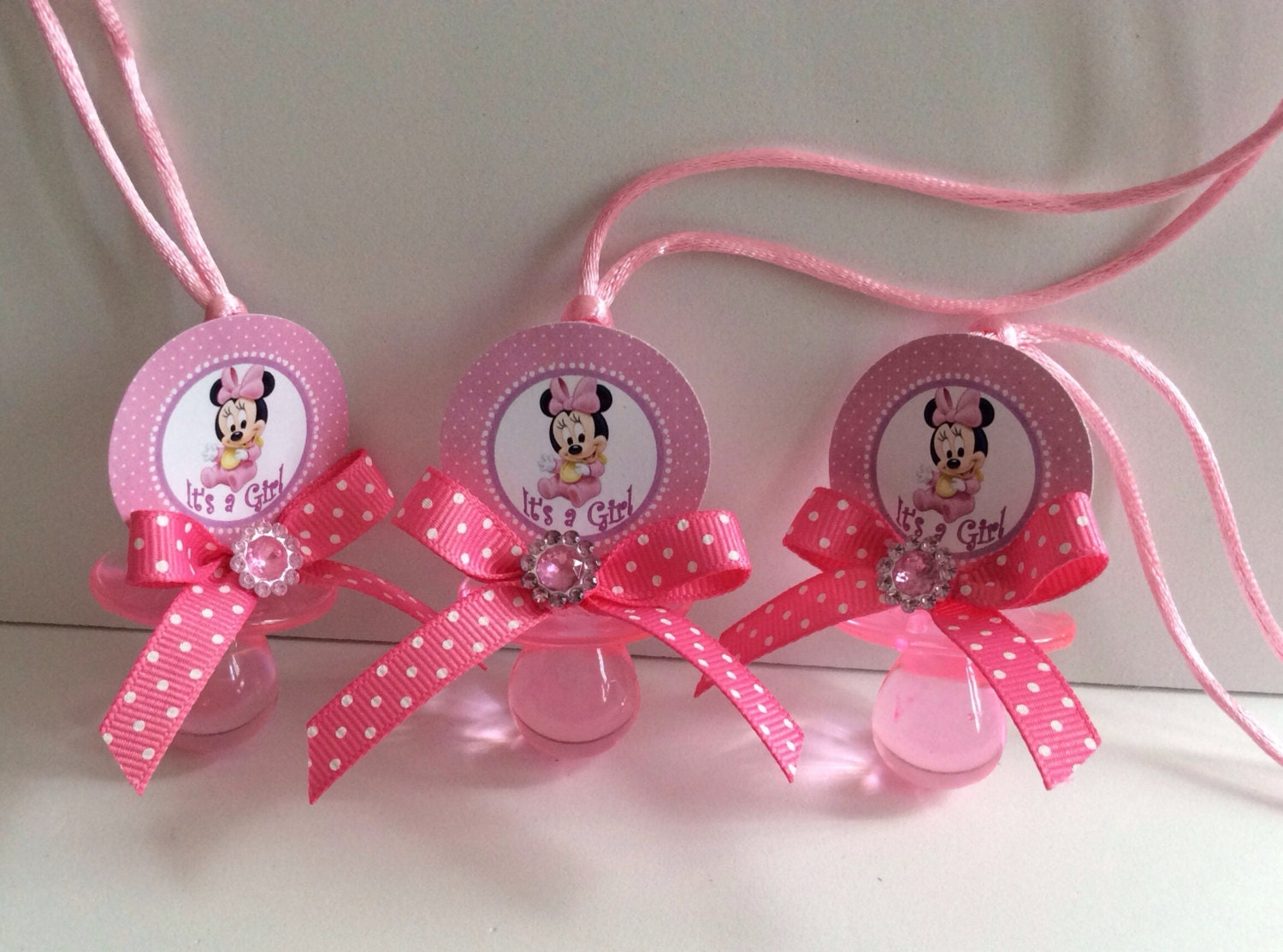 minnie mouse baby shower pacifiers minnie mouse baby shower