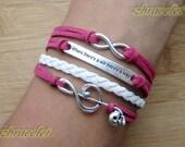 Charm Bracelet,Leather Braid Bracelet-G Clef Music Bracelet, Motto Bracelet, Skull Bracelet, Karma Bracelet
