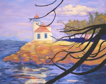 San Juan Lighthouse, Limited Edition Print, 23.5x31 unframed