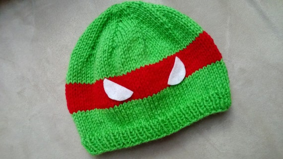 Knitting Pattern Turtle Hat : Pattern: Ninja Turtle Beanie Hat