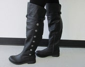 Landon Steampunk Boots, Renaissance Boots, Steampunk Boots, Knee High Boots, Victorian Boots, Costume Boots, 1800's Style Boots