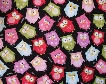 "1/2 yard of 100% cotton Sleepy Owl ""Boohoo"" fabric"
