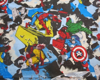 "1/2 yard of 100% cotton ""Marvel comic"" Fabric"