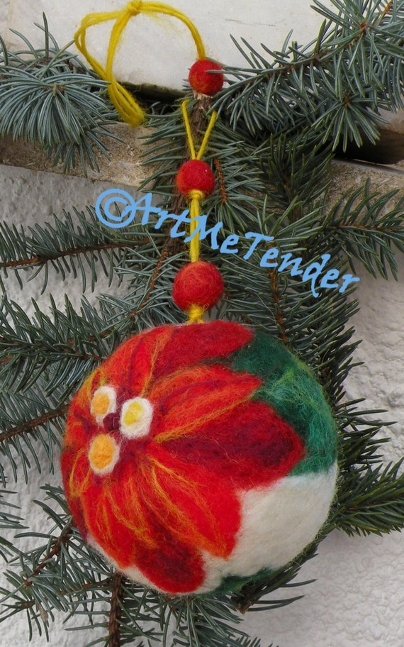 Christmas ornamentchristmas gift needle felted ball