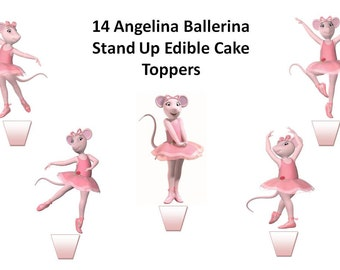 Popular items for edible cupcake on etsy for Angelina ballerina edible cake topper decoration sale