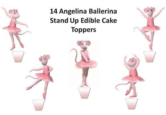 Etsy your place to buy and sell all things handmade for Angelina ballerina edible cake topper decoration sale