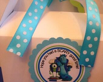 Monsters University favor tags, Monster University cupcake toppers, Monster University birthday banner