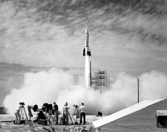 First Rocket Launch Cape Canaveral Space Poster 8x10 or 11x14