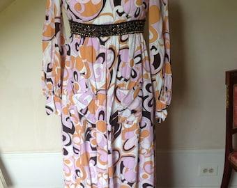 1970's Gypsy Dress Long w/ Long Sleeves