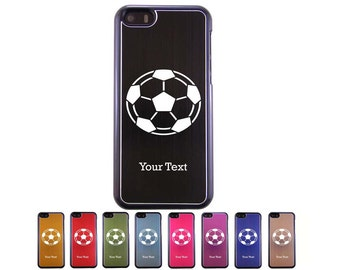 Personalized Engraved Soccer Ball Aluminum Case for iPhone 5c, 6, 6 plus