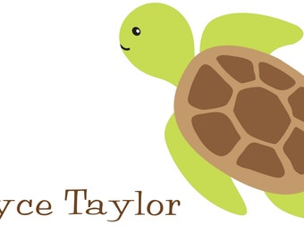 Turtle Calling Card/Gift Tag
