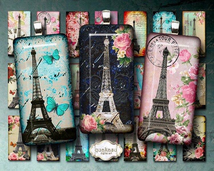 eiffel domino digital collage sheet domino images 1x2. Black Bedroom Furniture Sets. Home Design Ideas