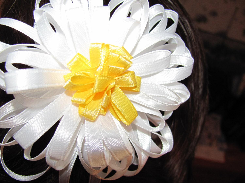 Handmade double daisy flower hair barrette or pin e102616244445549m handmade double daisy flower hair barrette or pin izmirmasajfo