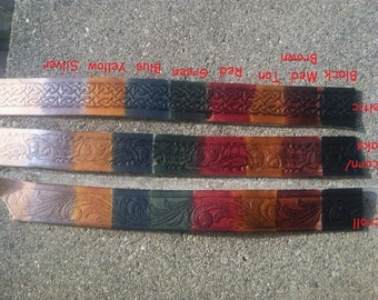 Belt Patterns, Conchos, and Color Samples