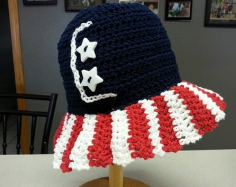 Stars and Stripes Sun Hat