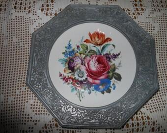 Vintage German Decorative Porcelain Wall Plate