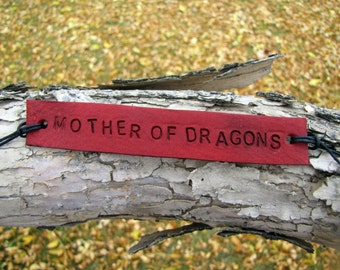 Mother of Dragons Khaleesi  Fandom Inspired Tie Up Leather ID Bracelet
