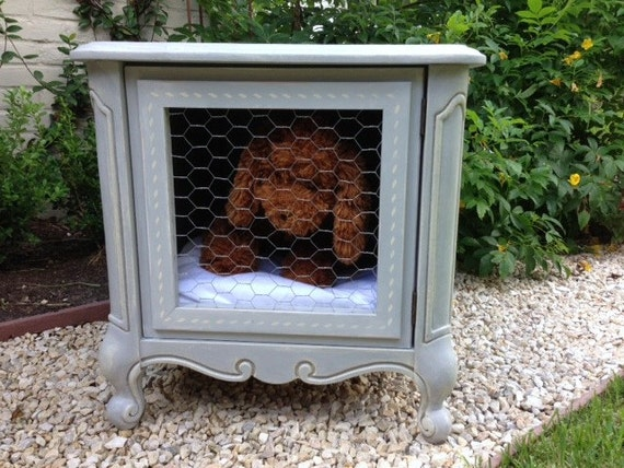 Sold whimsical shabby chic vintage french style dog by for Schon diy shabby chic pet bed
