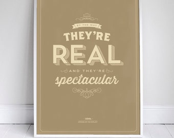 """They're Real and They're Spectacular - Seinfeld Print - Signfeld Poster - 11x17"""" - Home Decor"""