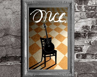 Once - Musical Inspired - Art Lithograph Poster