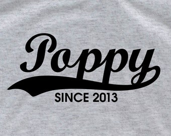 Poppy shirt T21 grandpa shirt daddy shirt  Personalized t shirt father's day gift dad new dad shirt fathers day gift papa shirt