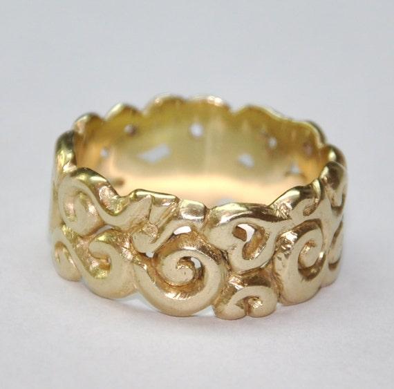 Yellow Gold Wedding Band Gold Wedding Band Womans