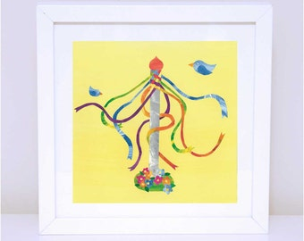Art Print for Kids, Girls wall art, Nursery wall art, Bedroom Decor: Princess Maypole