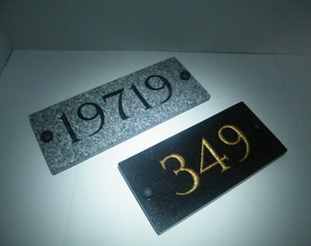 Address Signs, Granite Address Plaque Address Stone Sign Personalized Address Engraved Stone