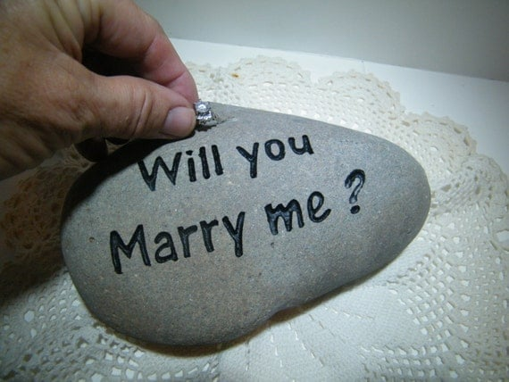 ring holder will you marry me stone
