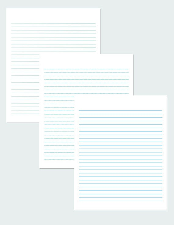 blue writing paper