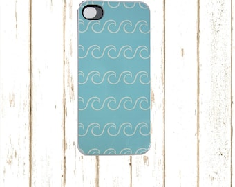 Iphone 5/5S  Wave case, Surf IPhone case, Surfing Phone Cover. Iphone 6/6S Case, blue IPhone 7 Case, Surfer IPhone 6 plus Case