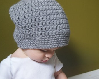 Baby and toddler slouch beanie, slouchy beanie, slouchie hat, cute crochet hat