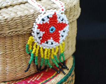 Native American Seed Beaded Necklace