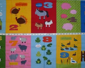 Barnyard Counting Design 14036 Laurie Wisbrun Robert Kaufman Cotton Fabric Panel