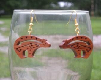 Southwest art Bear earrings