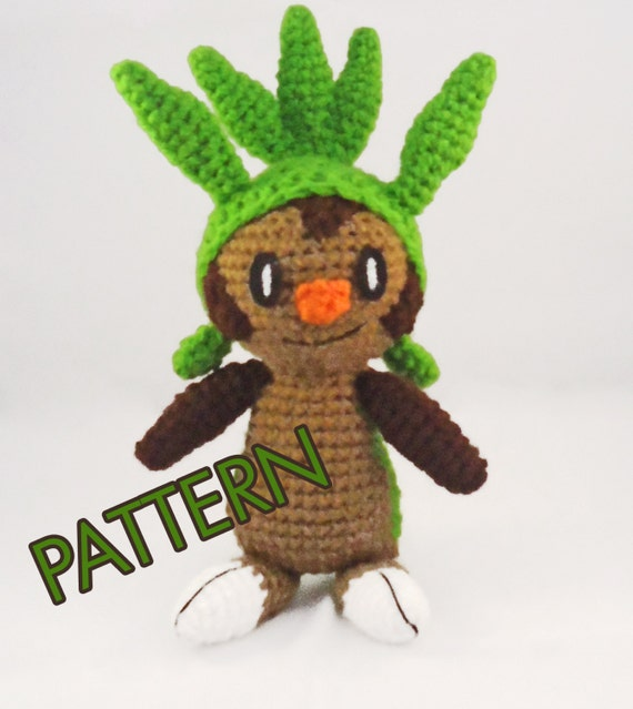 Amigurumi Pokemon Instructions : PDF CROCHET PATTERN Pokemon Chespin Amigurumi