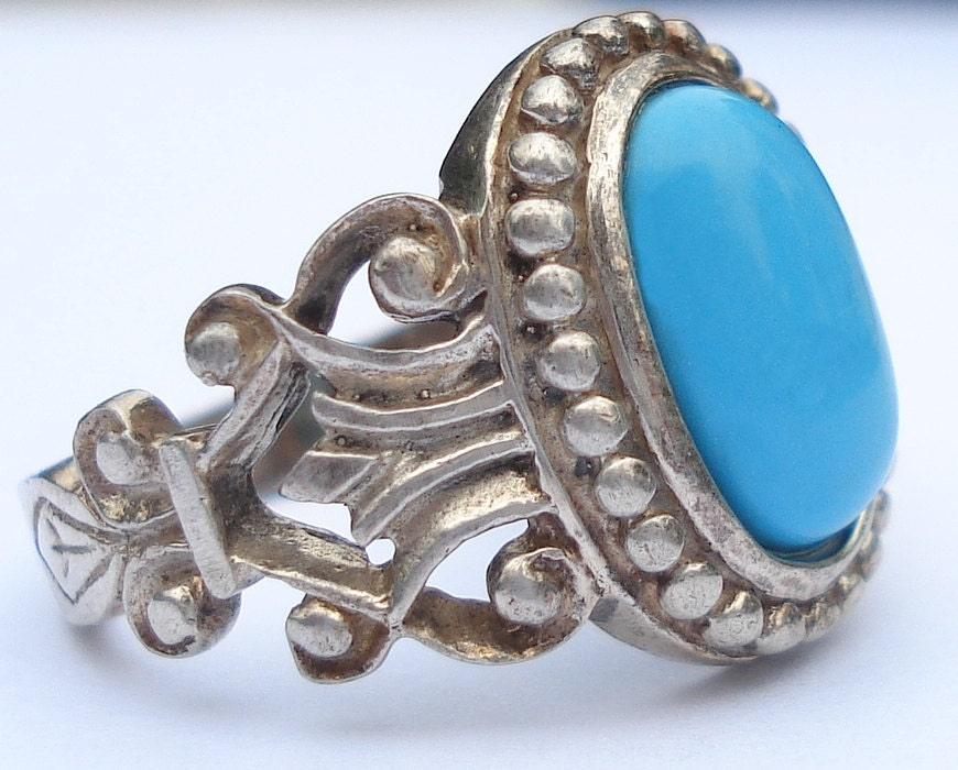 Vintage Avon Sterling Silver Faux Turquoise Rings Available In