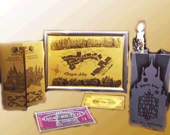 popular items for hogwarts invitation on etsy. Black Bedroom Furniture Sets. Home Design Ideas