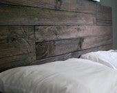 Industrial and Elegant Reclaimed Wood Headboard/ Espresso (Queen)