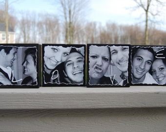 wooden photograph blocks