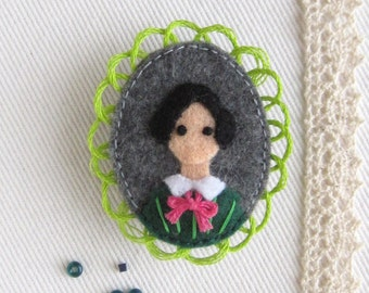Jane Eyre Victorian Literature Felt Brooch
