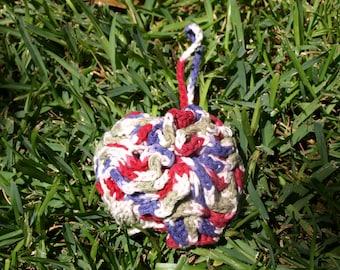 Hand Crocheted Shower Puff, ecofriendly, handmade, reuseable,